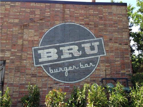 GSC Custom Green Sign Series Bru Burger Wall Mural Lexington KY