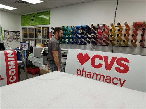 GSC 300 Series Temporary Site Sign CVS Pharmacy Westfield IN